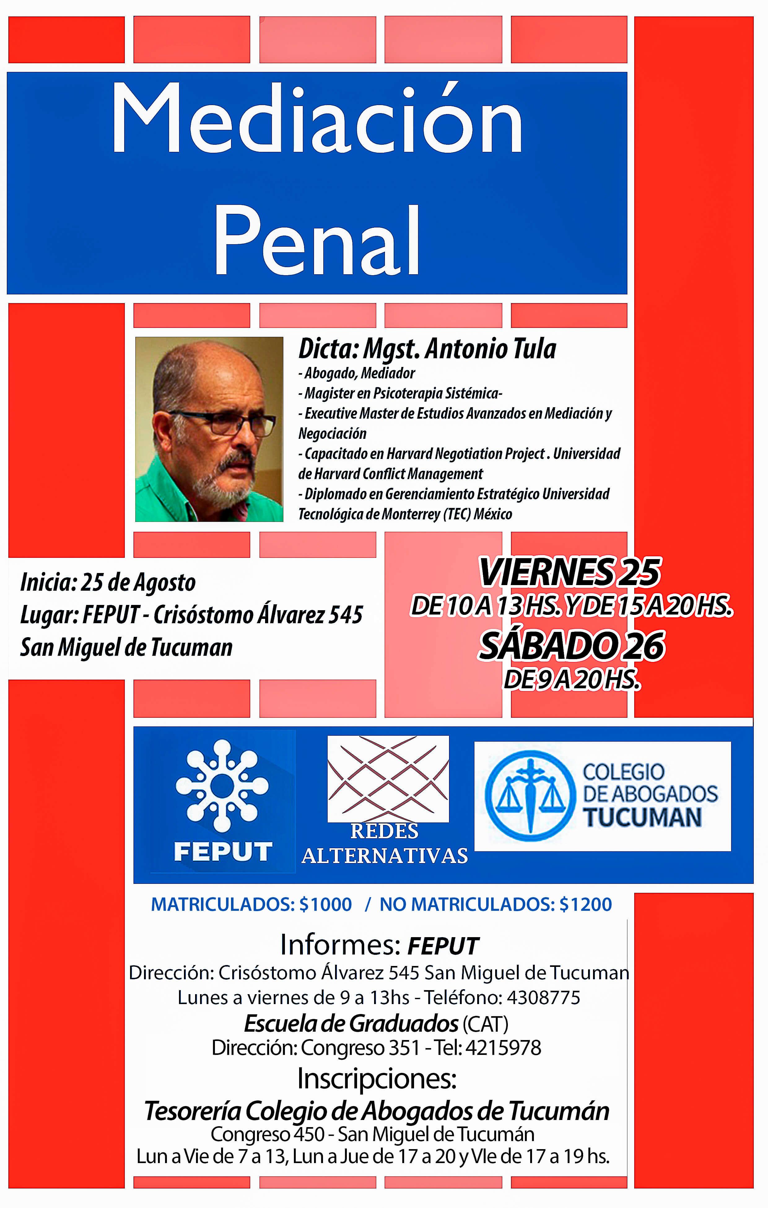 Mediación Penal Tucuman 2017