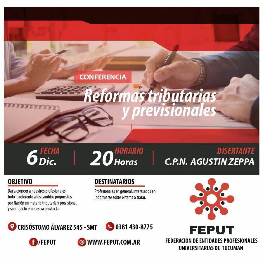 afiche charla reformas-tributarias-previsionales